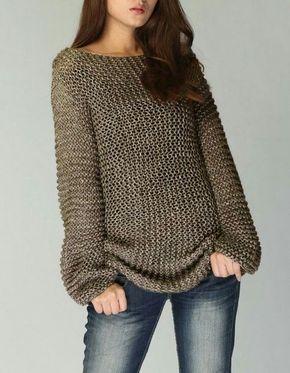 OVERSIZED Woman sweater/ Knit |