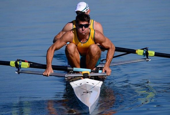 Mens Rowing : practice session