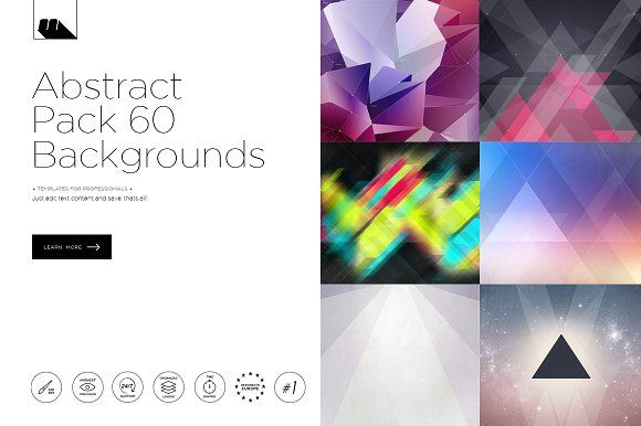60 Abstract Backgrounds Pack by mesmeriseme.art on @creativemarket