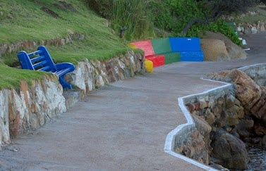 The Fish Hoek Catwalk - alongside the sea  © 2012 Robin Bownes. All Rights Reserved.