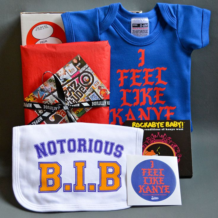 Kanye West Themed Baby Gift Box. Cool baby Xmas gift from www.nippazwithattitude.com