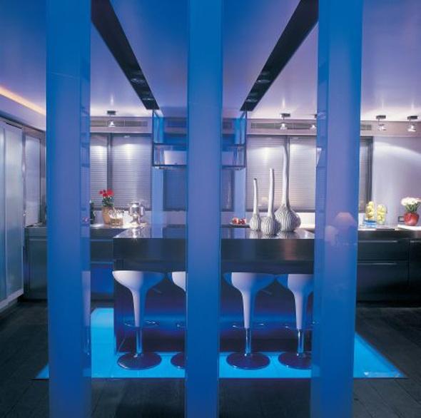 Bar kitchen design glass floor ocean view