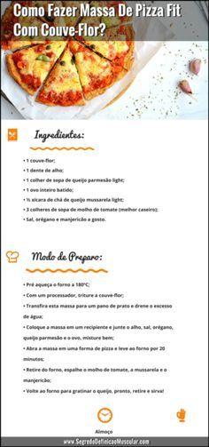 Receita de Massa De Pizza Fit Com Couve-Flor