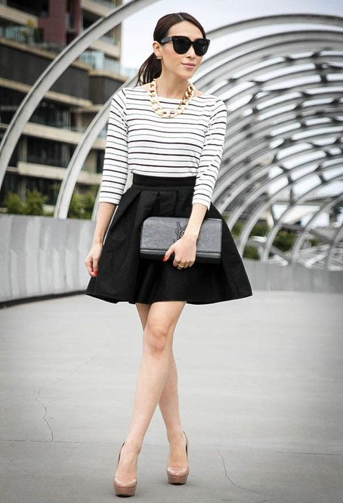 17 Best images about Black and white on Pinterest | Striped skirt ...