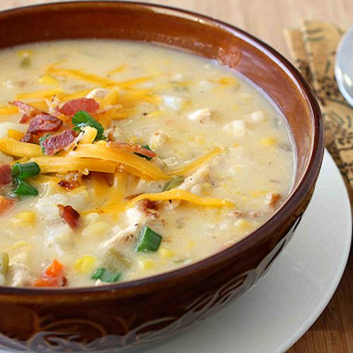 ... amp potato chowder recipe with green chiles amp cheddar cheese