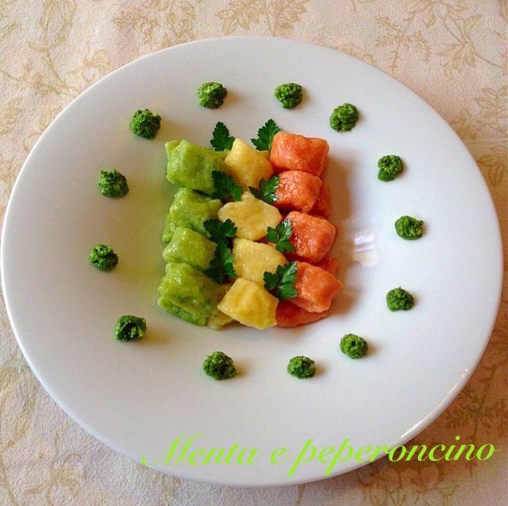 Ricetta Gnocchi tricolore