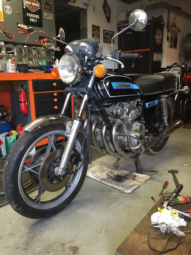 This 1979 Suzuki GS 500 E may not look all that, but it is my bike. Btw, it's currently being rebuilt.
