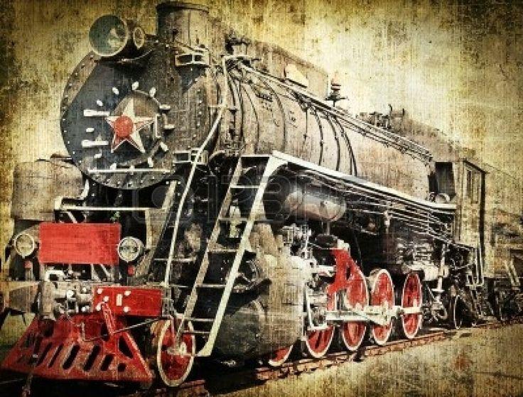 Grunge steam locomotive photo