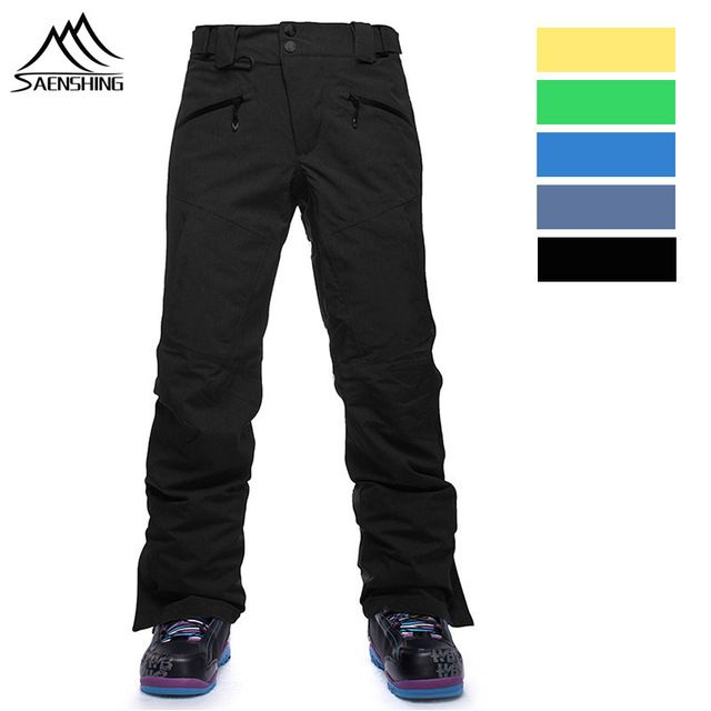 Discount Today $49.61, Buy SAENSHING Winter Thicken thermal Ski Pants Men outdoor Snowboard trousers Hiking Snow Trousers Waterproof Breathable plus size