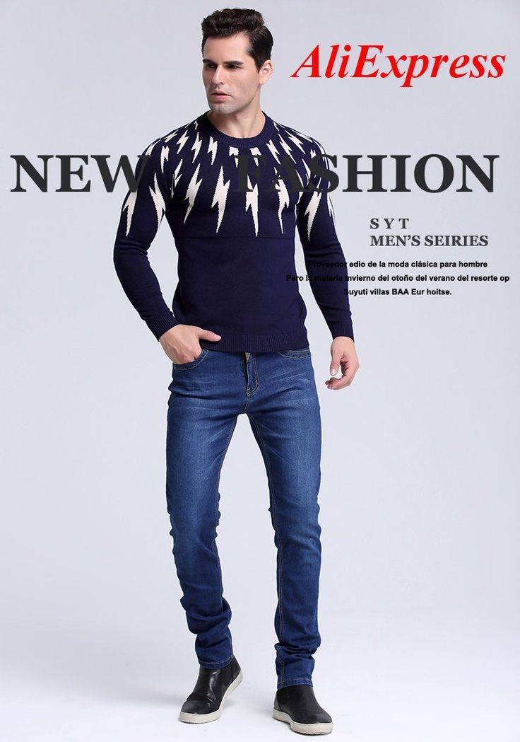 SYT Mens jeans New Fashion Men Casual Jeans Slim Straight High Elasticity Feet Jeans Loose Waist Long Trousers