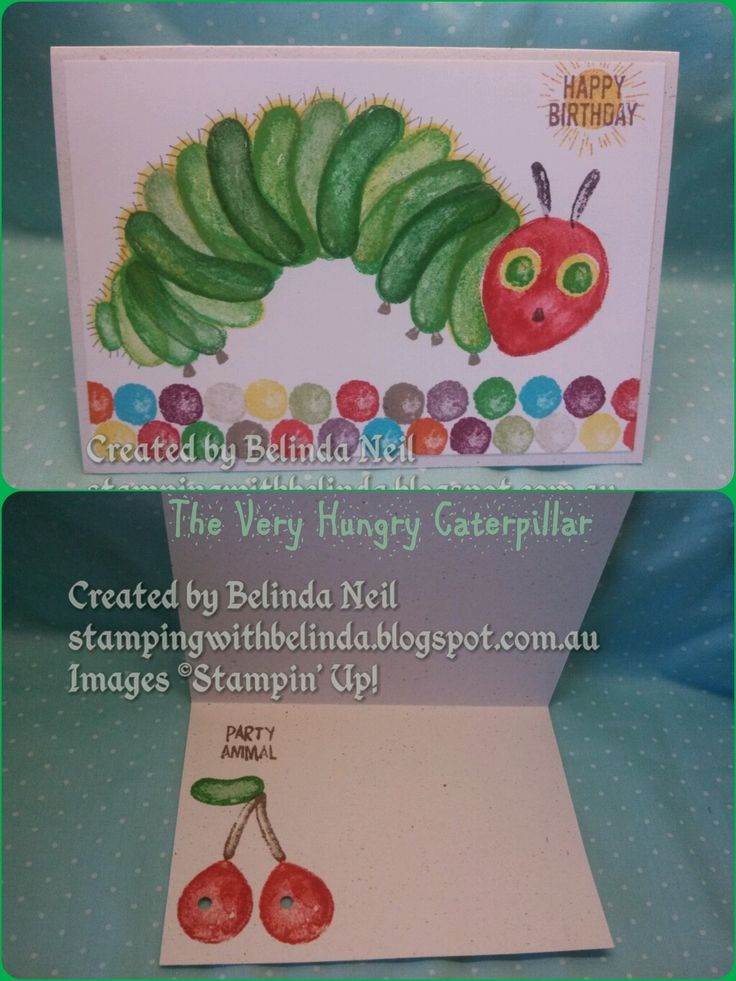The Very Hungry Caterpillar. -Stampin' Up! Balloon Suilders