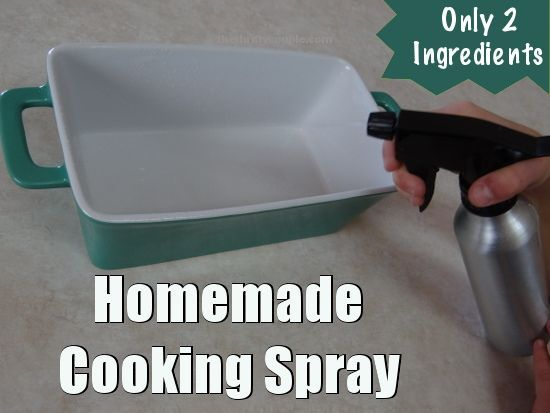 Make your own DIY Homemade Cooking Spray. It's easy to make your own and you only need two ingredients!