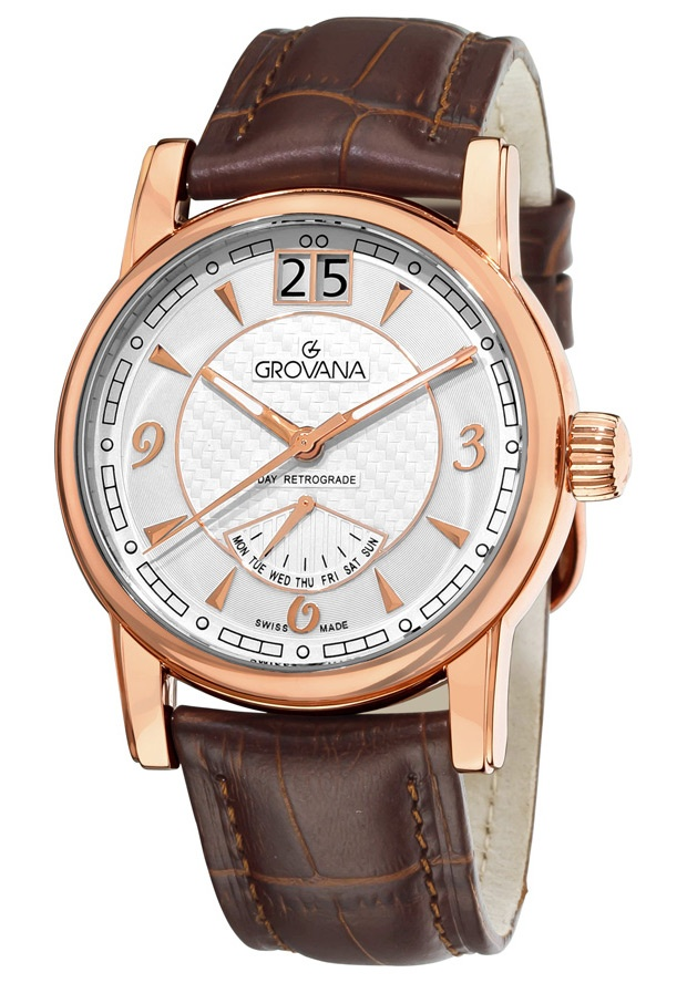 Price:$466.39 #watches Grovana 1721.1562, Grovana is a firm that has made a name for itself in the Swiss watch making industry through innovation and flexibility. Up to the 1970s it made mechanical watches that were always state of the art.