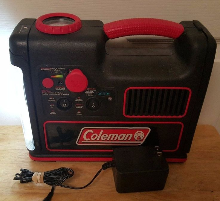 Coleman Rechargeable Light AND Tire Air Compressor Unit w/ Charger #Coleman #Portable