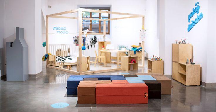 Retris is a set for children, now presented during exhibitin in Katowice. design J.Lisiecka