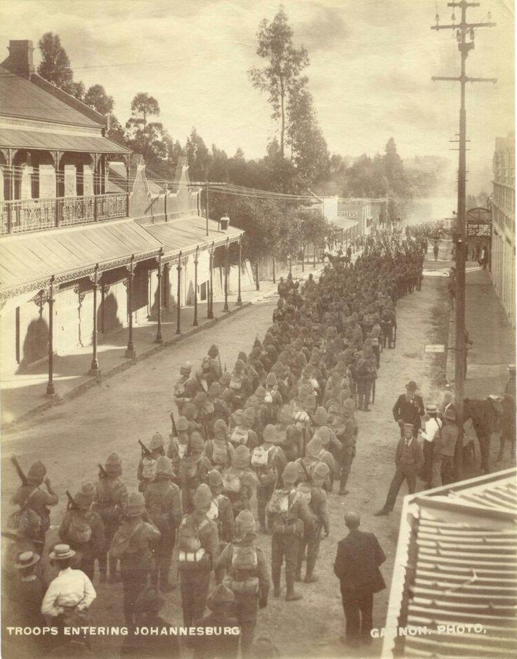 Britse troepe, Johannesburg, 1900.