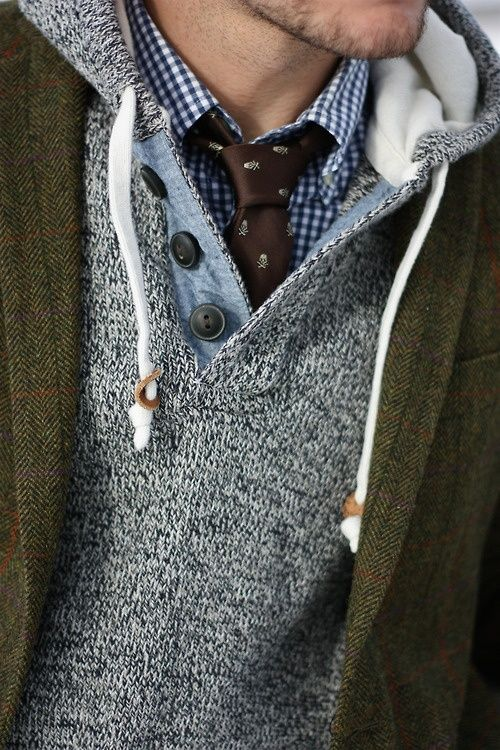 When possible, layer, layer, layer. When possible, layer some more and add some detail.: Fashion Men, Men Clothing, Men Style, Menstyle, Dresses Shirts, Ties, Men Fashion, Casual Looks, Mixed Pattern