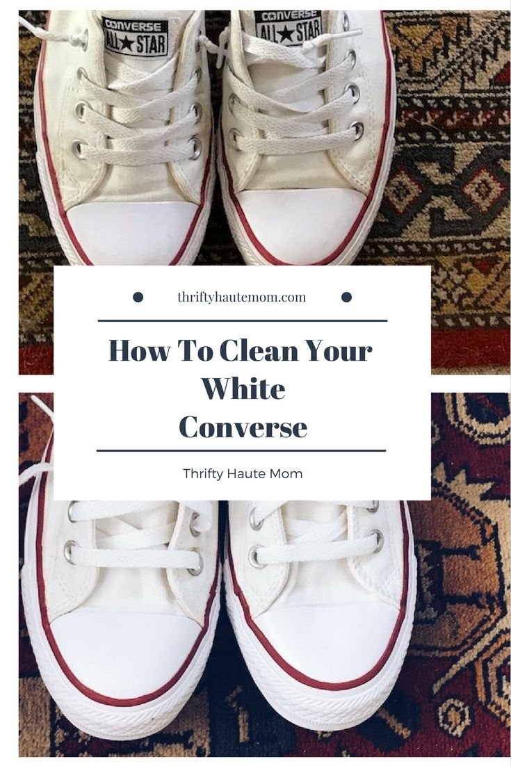 How To Clean Your White Converse Pinterest Image #1