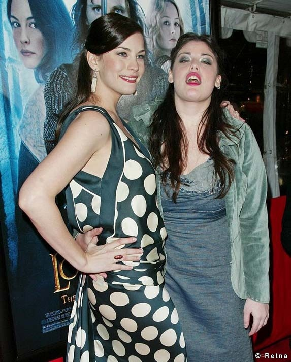 Half-sisters actress Liv Tyler (whose mother is model and singer Bebe Buell) and Mia Abagale Tallarico, better known as Mia Tyler, actress, model, public speaker and advocate. She is the daughter of Aerosmith lead singer Steven Tyler, and actress Cyrinda Foxe.