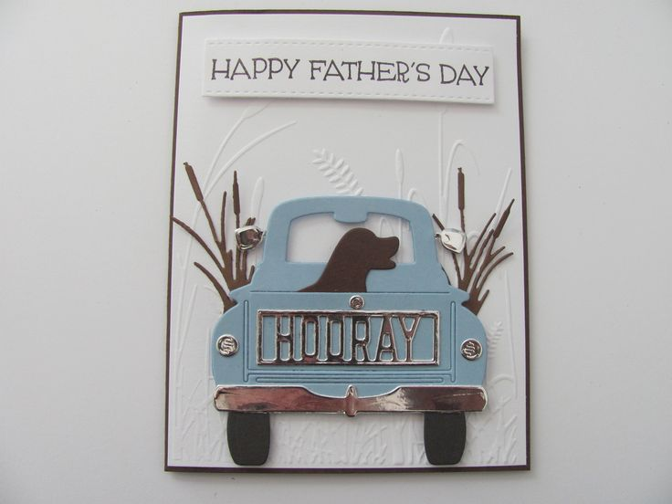 Fathers Day Truck Card, Handmade Father's Day Card, Truck Card, Happy Father's Day Card, Masculine Card, Fathers Day Gift, Gifts for him
