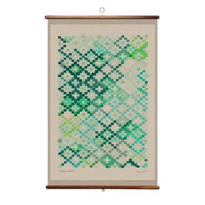 Wall Hanging - Tapestry in Emerald - via DTLL.