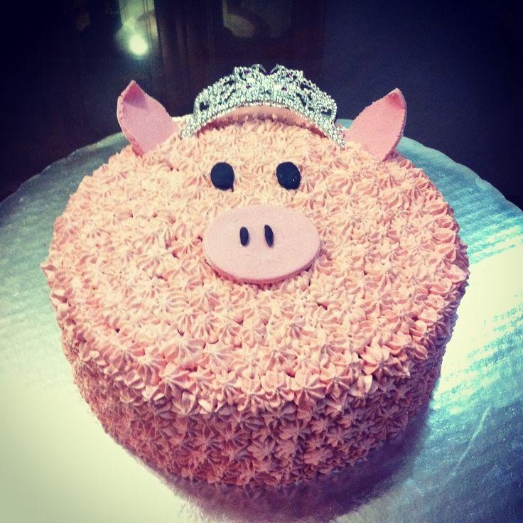 Princess pig cake