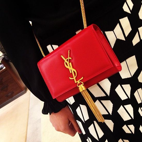 YSL Cassandra Tassel in Red - neeeed this in my life | ? Luxury ...