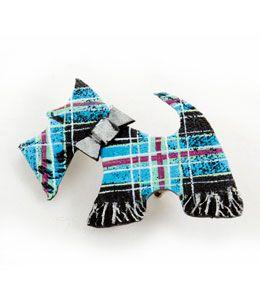 Tartan Scottie Dog Brooch, by Skaramanda, £14.99