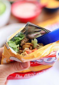 For dance school nights this would be the perfect meal on the go! Walking Tacos