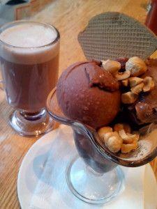 Hot chocolate with Ice Cream chocolate