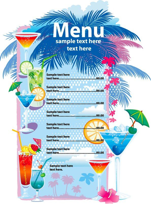 Best Single Menu Images On   Restaurant Menu Design