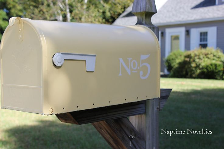 Paint your front door and mailbox yellow!