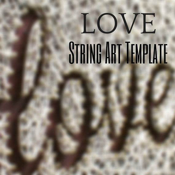 Large LOVE String Art Template/ String Art by DistantRealms