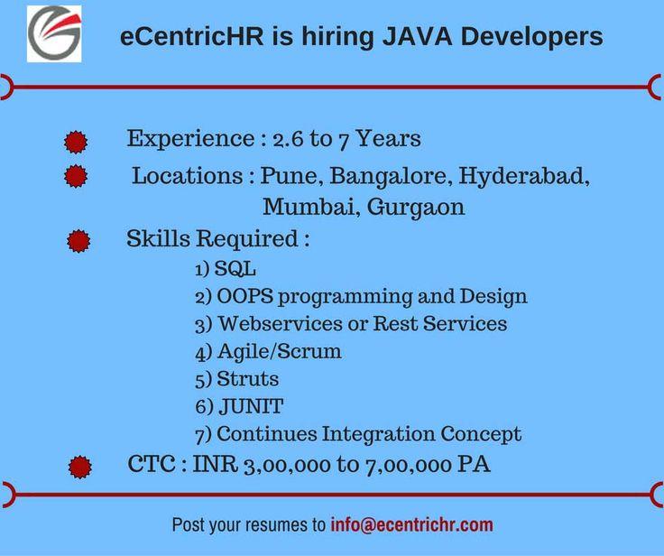 69 best eCentricHR is Hiring !!! images on Pinterest Coffee - ilog programmer sample resume