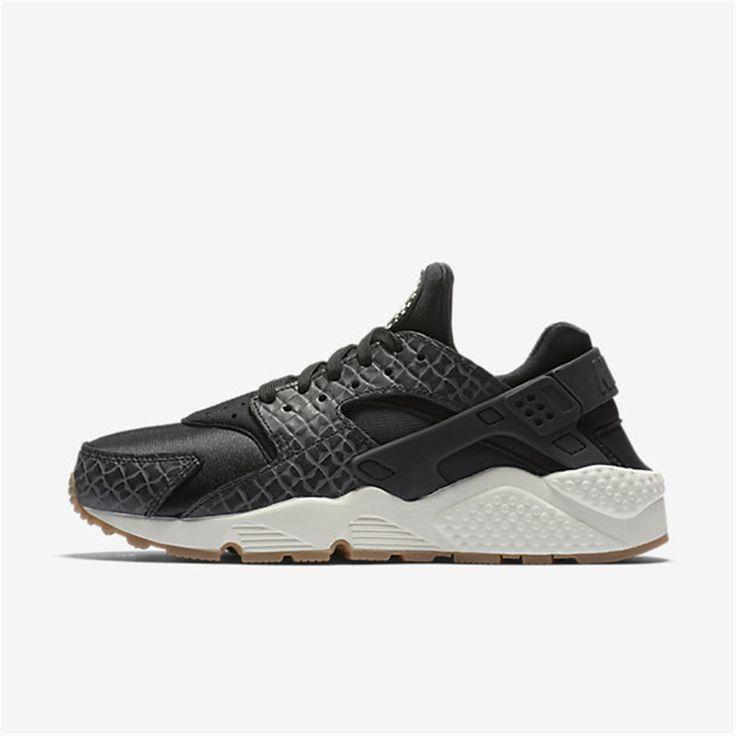 Nike Air Huarache Premium Black Sail Gum Medium Brown Shoes Very stylish  shoes, very trendy, very like.