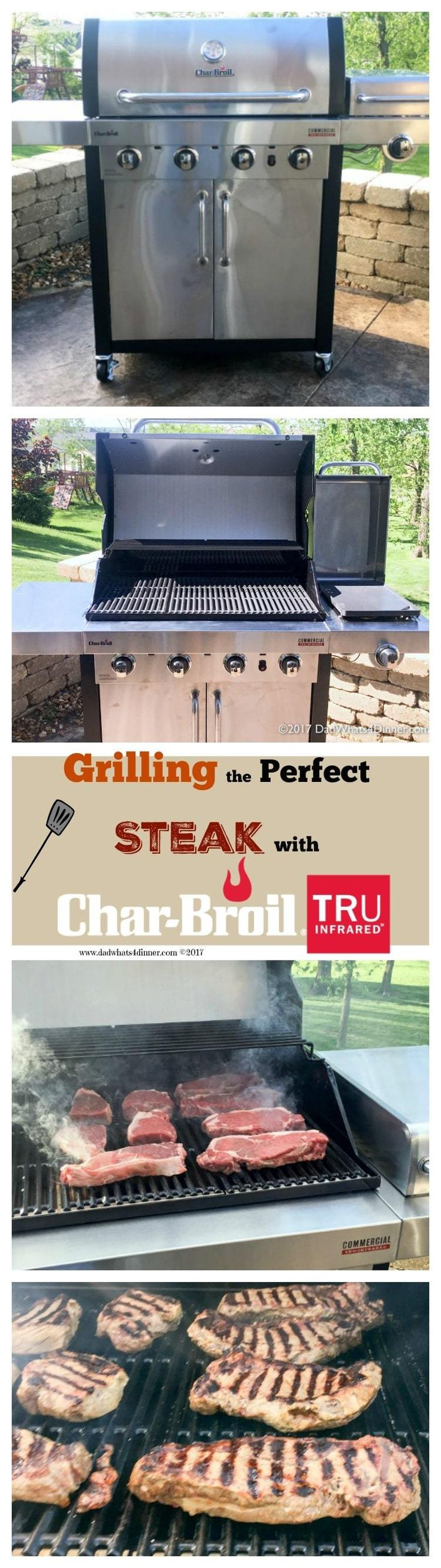 You will be the master of your backyard when you learn how to Grill the Perfect Steak using Char-Broil's Commercial Series TRU-Infrared Gas Grill! #NowYoureCookin @charbroil #ad