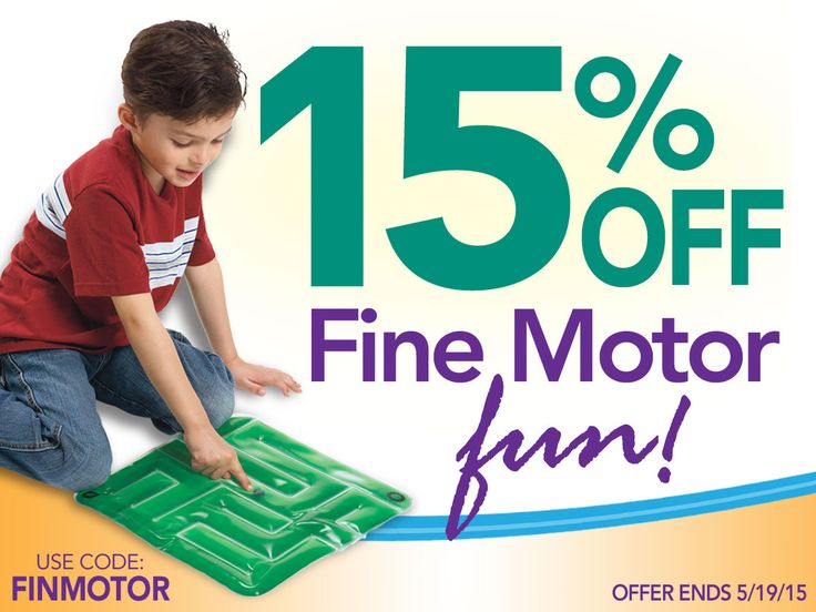 Save 15% on over 90 ‪Fine Motor‬ products now through May 19th! Use code FINMOTOR at checkout to receive this ‪‎discount‬!