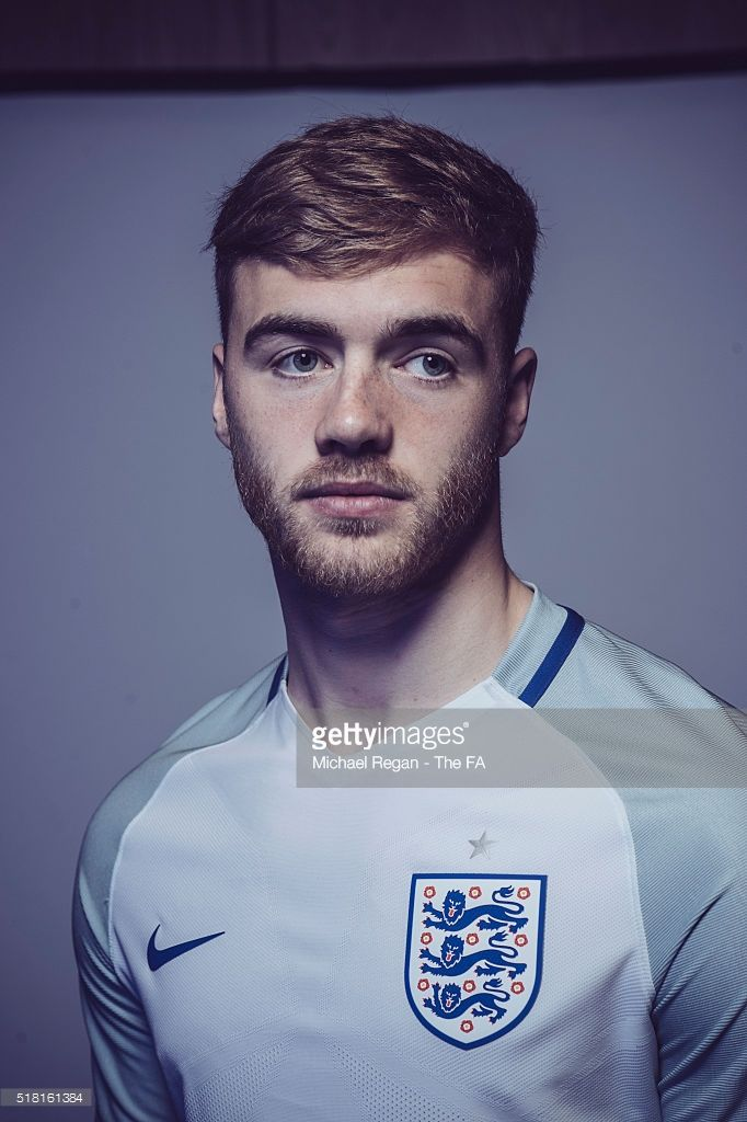 FILTERS) Calum Chambers of the England U21 squad poses at St Georges Park on…