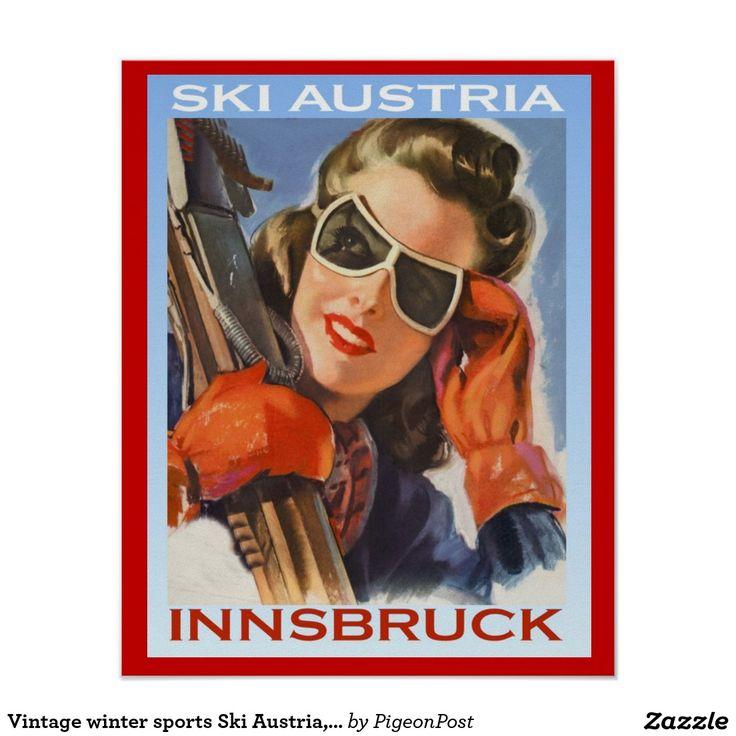 Ski vintage Autriche, Innsbruck de sports d'hiver
