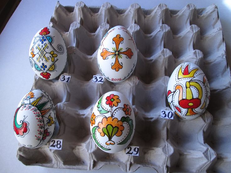 Bulgarian Easter eggs from ihtiman and Etropole