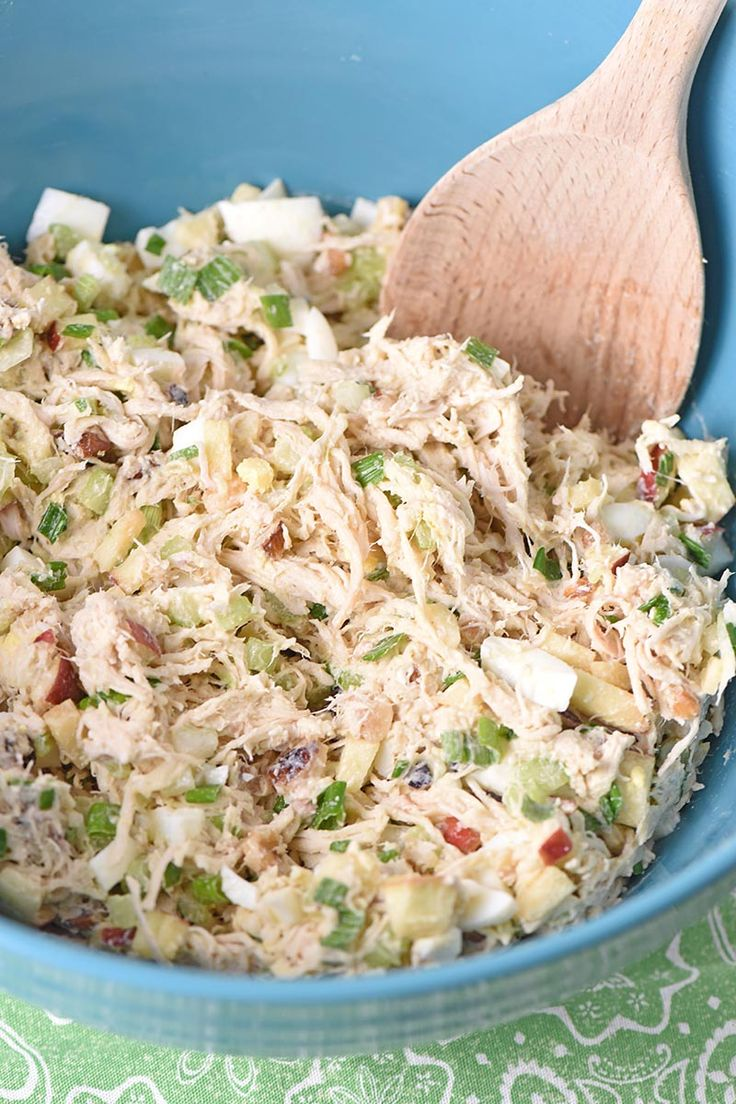How to mix up the most delicious chicken salad for an easy family meal. Simple a…