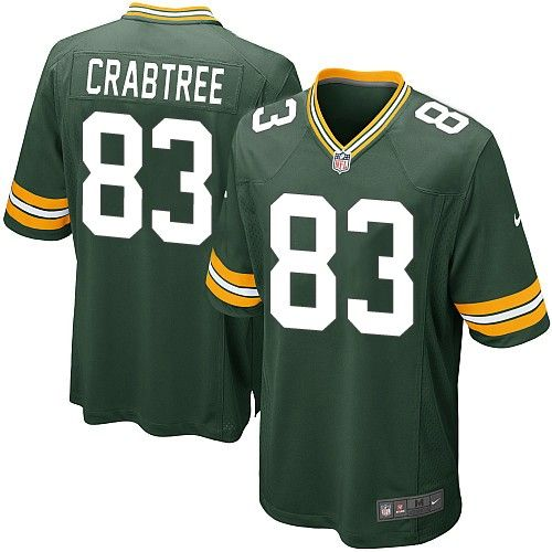 e8fc03bd nike elite green bay packers tom crabtree 83 green nfl jersey for ...