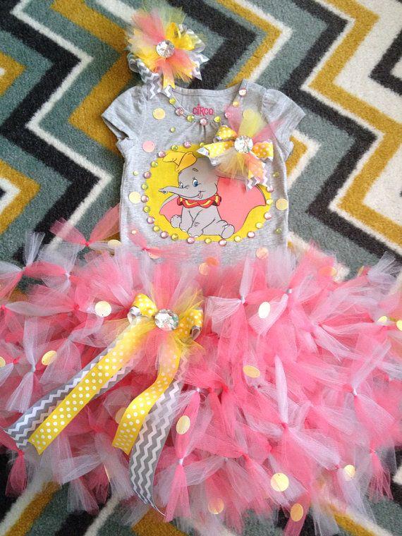 Disney's Dumbo tutu birthday party tutu set your size on Etsy, $59.99
