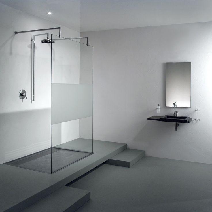 modernes badezimmer weiß hellgrau fliesen pflanze dusche ducha - pflanzen für badezimmer
