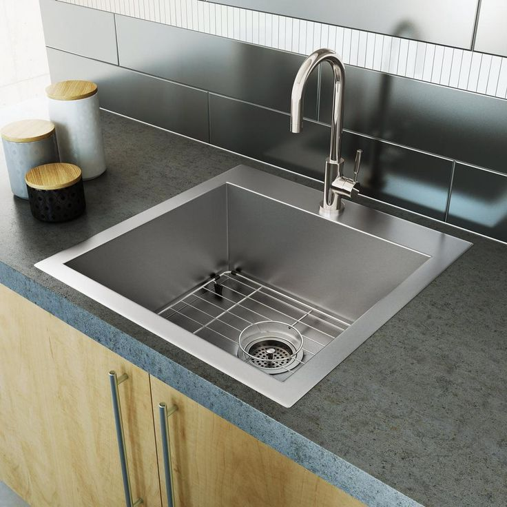 Single Bowl Kitchen Stainless Steel Sink : Tips To Buying Stainless Steel  Kitchen Sinks