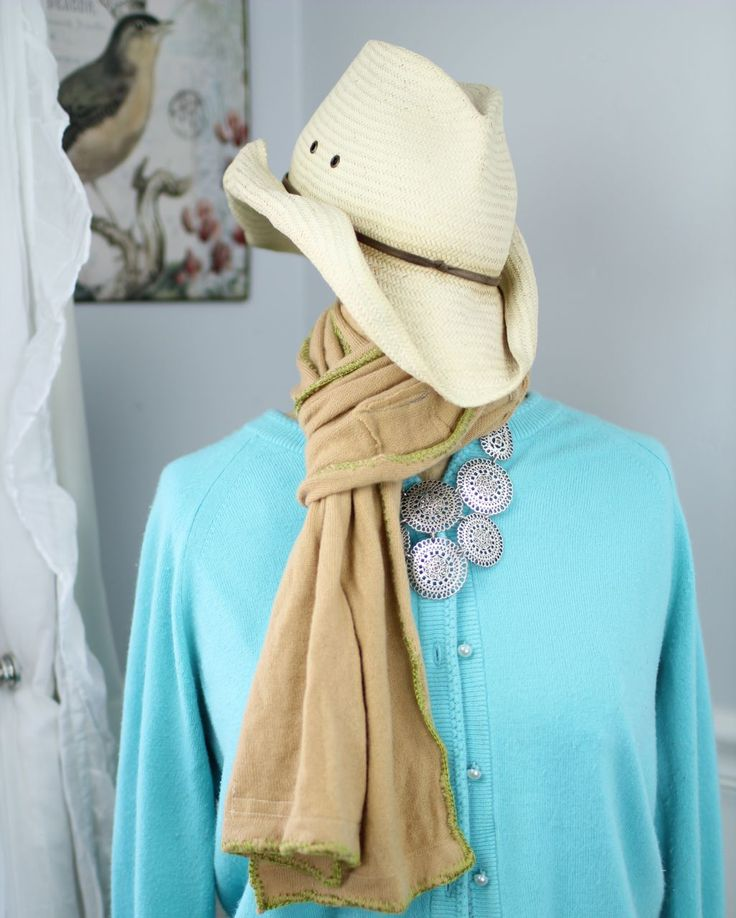 Lime green cashmere scarf