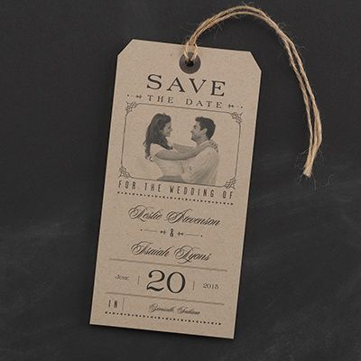 Add your #photo to this #Typography #Tags #SavetheDate #card. #Wedding http://foreverfriendsfinestationeryandfavors.com