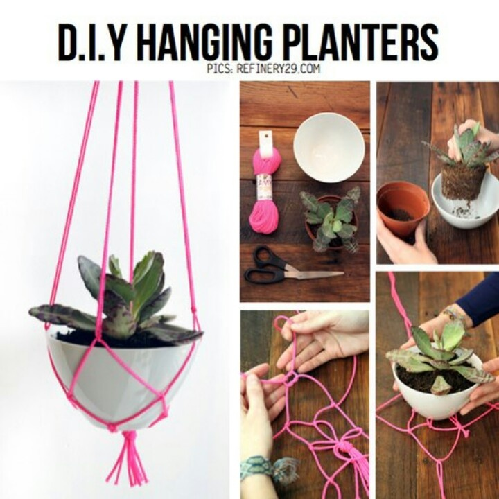 Diy Hanging Planters For When I 39 M Crafty Pinterest