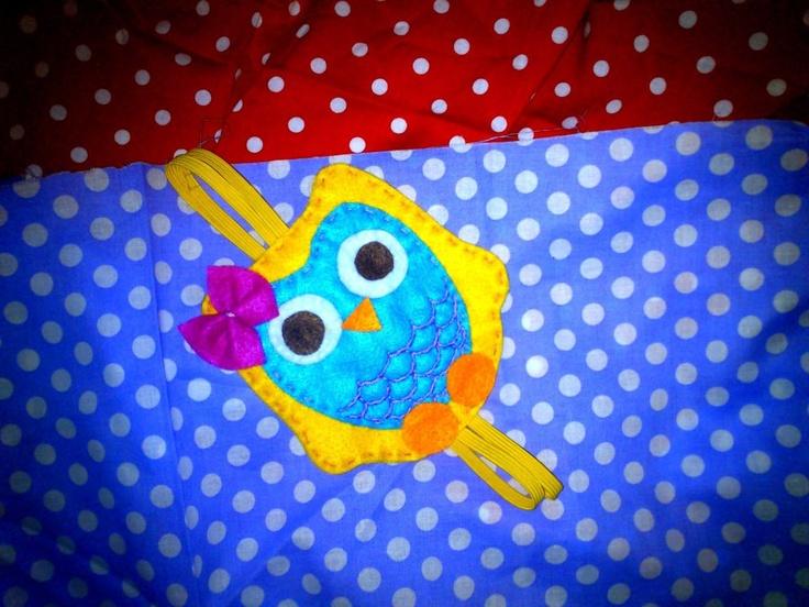 felt owl headband...