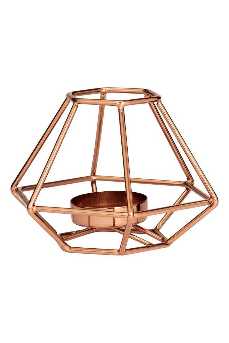Metal tealight holder: Metal tealight holder. Diameter approx. 12 cm, height 8 cm.